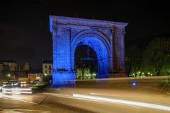 Aosta, arco de Augustus Italy fotos de stock royalty free