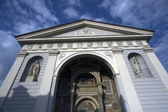 Aosta cathedral facade Stock Photo