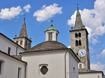 Aosta cathedral Royalty Free Stock Images