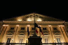 Aosta City Hall. View of Aosta City Hall decorated for christmas(Aosta, Valle D'Aosta, Italy Stock Images