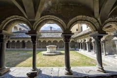 Aosta - claustro de Sant'Orso Foto de Stock
