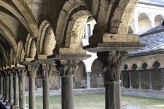 Aosta - claustro de Sant'Orso Foto de Stock Royalty Free