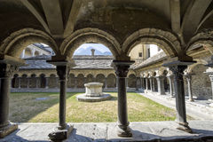 Aosta - cloître de Sant'Orso Photo stock
