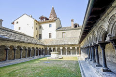Aosta - cloître de Sant'Orso Photos stock