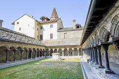 Aosta - Cloister of Sant'Orso. Aosta (Italy) - Cloister of the ancient Sant'Orso church Stock Photos