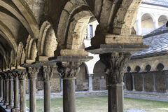 Aosta - Cloister of Sant'Orso Royalty Free Stock Photo