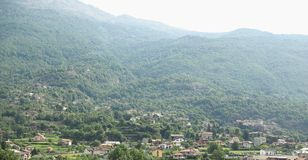 Aosta dolina w Włochy obrazy royalty free