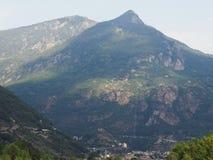 Aosta dolina w Włochy zdjęcia stock