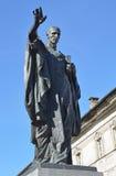 Aosta, Italy, May, 10, 2013. The monument to Anselm of Canterbury - philosopher, theologian, Revelator Stock Photos