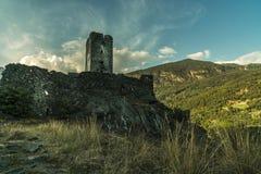 Aosta médiéval Italie de château photo libre de droits
