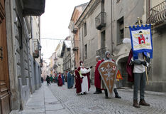 Aosta Mountain Carnival Royalty Free Stock Images