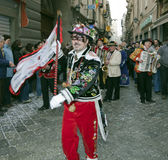 Aosta Mountain Carnival Stock Photography