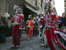 Aosta Mountain Carnival Stock Images