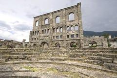 Aosta - römisches Theater stockfotografie