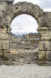 Aosta - Roman Theatre Stock Photo
