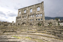 Aosta - Roman Theatre. Aosta (Italy) - Ruins of the Roman Theatre Stock Photography