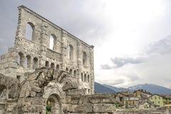 Aosta - Roman Theatre. Aosta (Italy) - Ruins of the Roman Theatre Stock Image