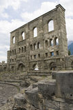 Aosta ruins Stock Photography