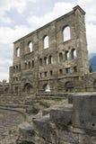 Aosta ruins. Old roman ruins in Aosta Stock Photography
