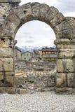 Aosta - teatro romano Fotografia Stock
