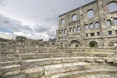 Aosta - teatro romano Immagini Stock Libere da Diritti