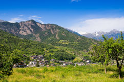 Aosta Valley. Italy Stock Photography