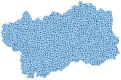 Aosta Valley map Stock Photo