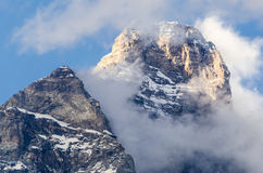 Aosta Valley, Mount Cervino peak Royalty Free Stock Photos