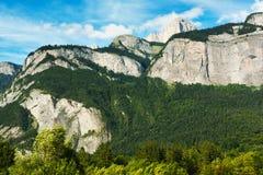 Aosta Valley mountains Stock Images