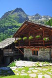 Aosta Valley. Typical architecture Stock Photos
