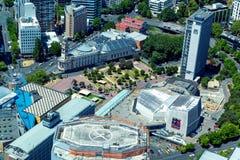 Aotea aquare widok z lotu ptaka w Auckland śródmieściu fotografia stock