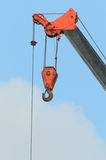 Aoto crane Hook on sky. Auto crane Hook on blue sky Stock Image