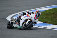 Aoyama on the honda, WSBK 2012 stock photography