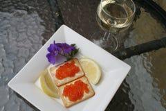 Apéritif avec le caviar russe Photographie stock libre de droits