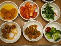 Apéritif coréen de nourriture 'Sélectif de focus〠Photographie stock libre de droits