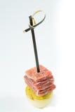 Apéritif Cuisine créative Prosciutto avec la poire Photographie stock