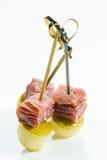 Apéritif Cuisine créative Prosciutto avec la poire Photos libres de droits