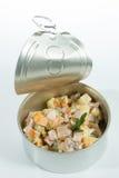 Apéritif Cuisine créative Salade russe dans a Photo libre de droits