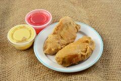 Apéritif de filet de poulet frit Photographie stock libre de droits