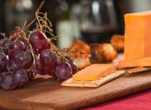 Apéritif de fromage de cheddar Photos libres de droits