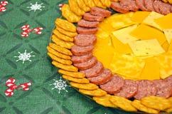 Apéritif de viande et de fromage Photo libre de droits
