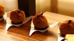 Apéritif japonais de boules de Falafel de fusion images libres de droits