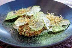 Apéritif végétarien gastronome créatif Photo stock