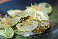 Apéritif végétarien gastronome créatif Photographie stock