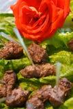 Apéritifs délicieux de kabob de boeuf image stock