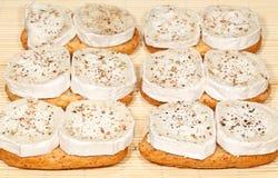 Apéritifs de fromage de chèvre image libre de droits