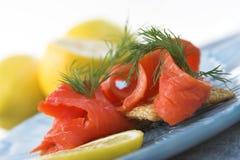 Apéritifs de saumon fumé Images libres de droits