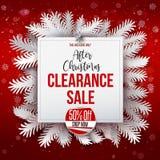 Após a bandeira e a etiqueta da venda do Natal Imagens de Stock Royalty Free
