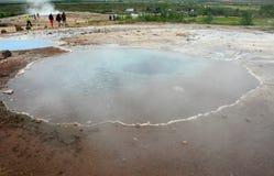 Após a erupção do geyser Imagem de Stock
