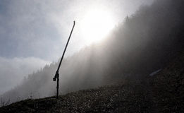 Após a estação na inclinação do esqui Imagens de Stock Royalty Free